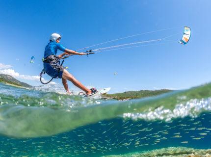 Plage, Tunara, kitesurf, Bonifacio, Corse